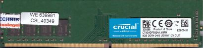 Crucial by Micron CT8G4DFS824A M8FH PC4-19200 8GB DDR4 2400MHz CL17 RAM* r744