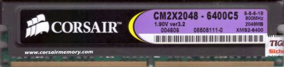 Corsair XMS2 CM2X2048-6400C5 PC2-6400 2GB DDR2 800MHz Arbeitsspeicher RAM* r748