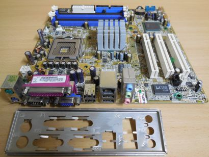 ASUS P5P800-MX Rev 1.00 Mainboard +Blende Intel Sockel 775 VGA LAN Audio* m973