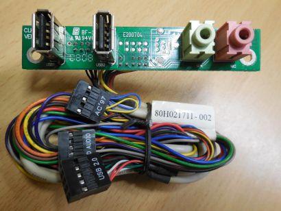 TERRA Chenbro CLKF465 Ver 1.1 80H021711-002 Frontpanel 2xUSB 2.0 Audio* pz625
