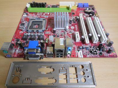 MSI P6NGM MS-7366 Ver 1.0 Mainboard +Blende Sockel 775 DDR2 DVI VGA PCIe* m977