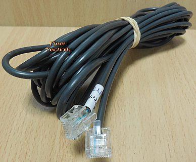 ISDN Kabel 8P4C 6m Länge RJ45 Stecker RJ45 Stecker schwarz* so899