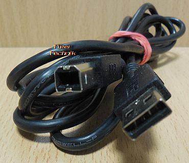 HP C9930-80003 USB 2.0 Kabel schwarz 1,8m Typ A Stecker Typ B Drucker etc.*pz824