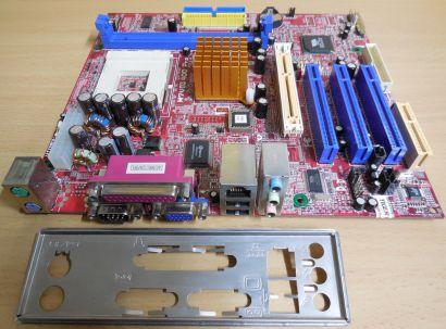 Biostar M7VIG 400 Pro Ver1.0 Mainboard +Blende AMD Sockel A 462 VGA LAN USB*m981