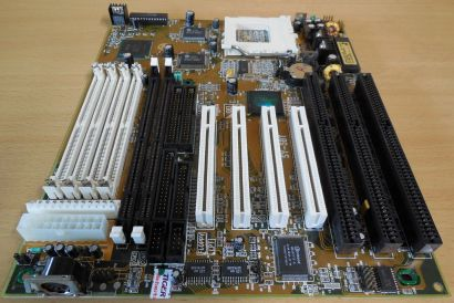Soyo SY-5BT Retro AT Mainboard Sockel 7 EDO SD RAM 3x ISA PCI IDE USB COM* m982