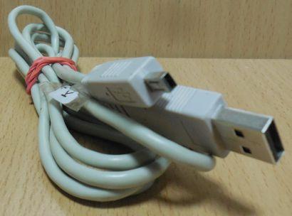USB Kabel grau 1,5m für Fuji Kamera USB Typ A Stecker Typ Mini-B 4 pol* pz826