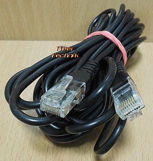 ISDN Kabel 8P4C 6m Länge RJ45 Stecker RJ45 Stecker schwarz* so908