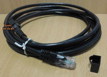 Computer CAT 5 Netzwerk LAN Kabel RJ45 RJ 45 Patchkabel 3m schwarz NEU* pz829