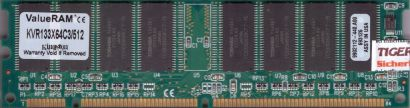 Kingston KVR133X64C3 512 PC133 512MB SDRAM 133MHz 9902112 440.A00 SD RAM* r317