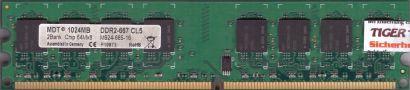 MDT M924-665-16 PC2-5300 1GB DDR2 667MHz Arbeitsspeicher RAM* r757