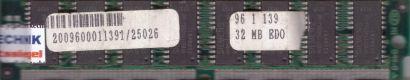 32MB EDO RAM PS 2 72 pin non-Parity Siemens HYB5117405BJ-60 Arbeitsspeicher*r759