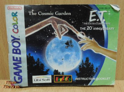 E.T. The Cosmic Garden Nintendo Gameboy Color Anleitung Instrucion Booklet*spa01