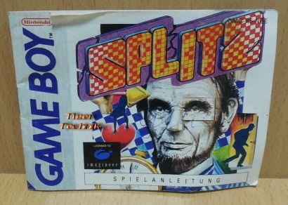 Splitz Nintendo Gameboy Anleitung Spieleanleitung Imagineer* spa02