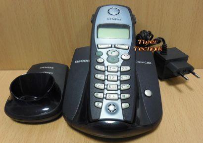 Siemens Gigaset C200 Basis + Mobilteil C2 + Gigaset Charger + 1x Netzteil* so915