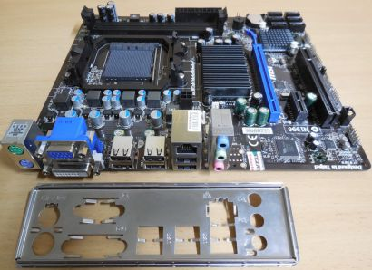 MSI 760GM-P23 FX MS-7641 Ver3.0 Mainboard +Blende AMD Sockel AM3+ VGA DVI* m985