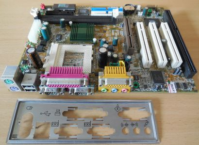 MSI MS 6154 Ver 2 Mainboard +Blende Sockel 370 AGP PCI ISA Serial USB SDRAM*m988