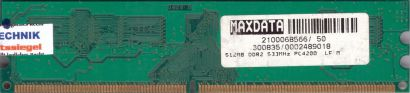 Micron MT8HTF6464AY-53EB8 PC2-4200 512MB DDR2 533MHz Arbeitsspeicher RAM* r762