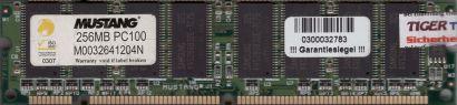 Mustang M0032641204N PC100 256MB 100MHz Arbeitsspeicher SD RAM* r776