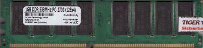 NoName PC-2700 1GB DDR1 333MHz Arbeitsspeicher DDR RAM mit Samsung Chips* r777