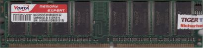 VData MDGVD5F3H4860D1E02 PC3200 CL2.5 512MB DDR1 400MHz Arbeitsspeicher RAM*r779