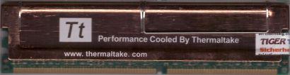 Infineon HYS64D64020GU-7-B PC2100 512MB DDR1 266MHz RAM Thermaltake Kühlung*r784