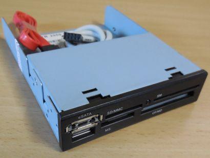 TOP Reader TR 2009 ML 3,5 Multi Slot PC Kartenleser eSATA USB2.0 schwarz* kl50