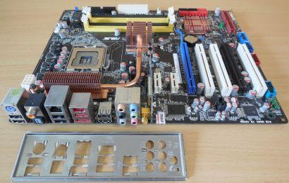 Asus P5K-E WIFI-AP Rev 1.00G Mainboard +Blende Sockel 775 Intel P35 DDR2* m997