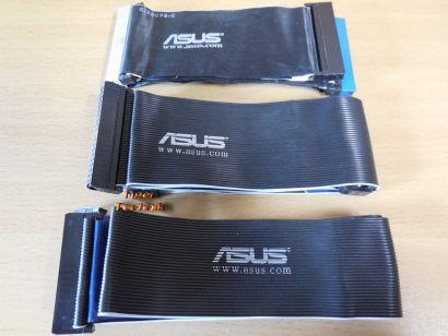 Asus Kabel Set 2x IDE CD DVD HDD ATA 100 133 1x Floppy FDD schwarz* pz849