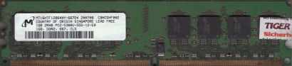 Micron MT16HTF12864AY-667D4 PC2-5300 1GB DDR2 667MHz Arbeitsspeicher RAM* r786