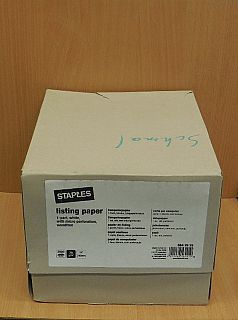 Staples Computerpapier endlos 1 fach blanko Längsperforation 2000 Blatt* dr09