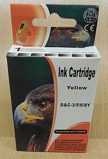Tintenpatrone für Canon BJC 3000 6000 S600 MPC 400 Pixma iP3000 Yellow MHD* dr11