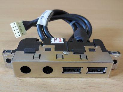 HP Compaq PC DC7700 DC7600 DC7100 usw. 398770 001 USB 2.0 Front IO Panel* pz862