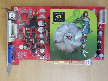 PALIT 6600G+7D21-PM8443 GeForce 6600GT AGP 8X 256MB 128Bit GDDR3 VGA DVI TV*g447