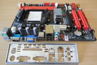 Biostar N68S3+ Ver6.0 Mainboard +Blende Sockel AM3 PCIe VGA LAN Audio USB* m1004
