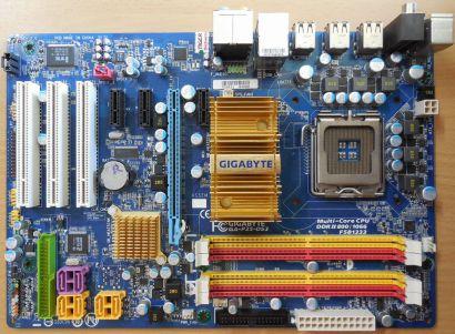 Gigabyte GA-P35-DS3 Rev2.0 Mainboard +Blende Intel P35 Sockel 775 DDR2* m1006