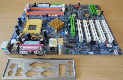 Gigabyte GA-7N400 Pro2 Rev1.0 Mainboard +Blende AMD Sockel A 462 nForce2* m1007