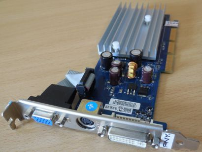 PNY Verto GeForce 6200 AGP8x 512MB 64Bit DDR2 VGA TV-Out DVI-I Grafikkarte* g455