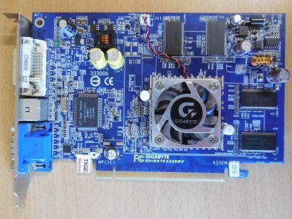 GIGABYTE GV-RX70S156DV-FS RV410 Radeon X700SE 256MB 128Bit DVI-I VGA VIVO* g459