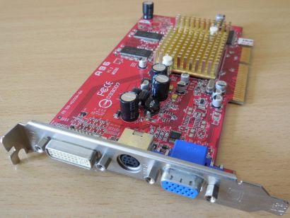 FIC A96 Radeon 9600 PN 109-A035GN-10A 128MB 128Bit DDR AGP 8x VGA TV DVI-I* g471