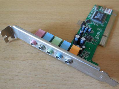LogiLink PC0027B 5.1 CMI8738 PCI 6-Kanal Surround MIDI Gameport Soundkarte* s74