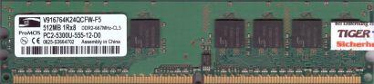 ProMOS V916764K24QCFW-F5 PC2-5300 512MB DDR2 667MHz Arbeitsspeicher RAM* r793