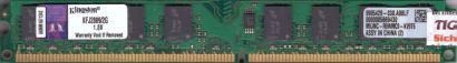 Kingston KFJ2889 2G PC2-5300 2GB DDR2 667MHz 9905429-030 A00LF RAM* r797