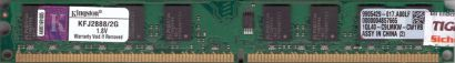 Kingston KFJ2888 2G PC2-4200 2GB DDR2 533MHz 9905429-017 A00LF RAM* r798