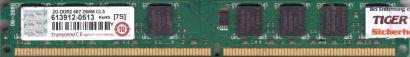 Transcend PC2-5300 2GB DDR2 667MHz CL5 Arbeitsspeicher RAM DIMM* r800