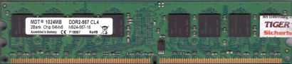 MDT M924-667-16 PC2-5300 1GB DDR2 667MHz CL4 Arbeitsspeicher RAM* r804