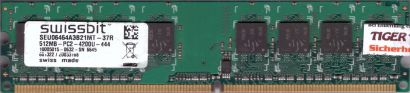 Swissbit SEU06464A3B21MT-37R PC2-4200 512MB DDR2 533MHz Arbeitsspeicher RAM*r808