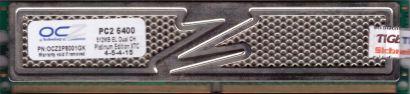 OCZ OCZ2P8001GK 1GB Kit 2x 512MB PC2-6400 DDR2 800MHz Arbeitsspeicher RAM* r810
