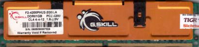 G.SKILL 2GB Kit 2x 1GB F2-4200PHU2-2GBLA PC2-4200 DDR2 533MHz CL4 RAM* r811