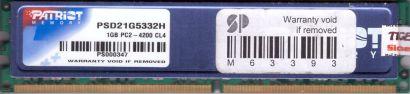 Patriot PSD21G5332H PC2-4200 1GB DDR2 533MHz CL4 Arbeitsspeicher RAM* r814