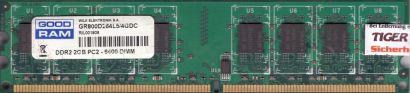 GOOD RAM 4GB Kit 2x 2GB GR800D264L5 4GDC PC2-6400 DDR2 800MHz CL5 Memory* r820